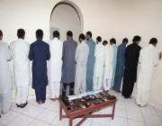 بالصور.. كشف لغز رسالة تجديد بطاقة الصراف والإطاحة بـ 14 باكستاني بجدة