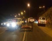 شرطة عسير تكشف تفاصيل حول العثور على جثـة ملفوفة في بطانية على سرير وسط الطريق