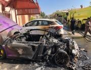 الشرطة تكشف هوية المتنكر بزي نسائي الذي أحرق سيارة فارهة بجدة