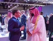 ماذا دار في حديث ولي العهد والرئيس الفرنسي بقمة الـ20 ؟