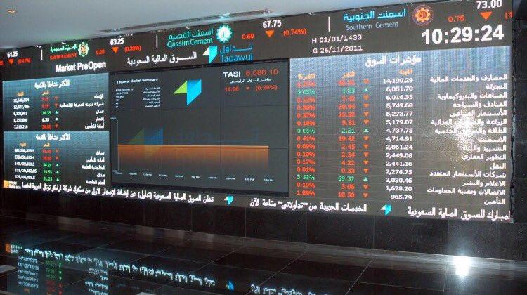 مؤشر سوق الأسهم السعودية يغلق منخفضًا عند مستوى 7743.39 نقطة
