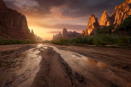الديسة.. لوحة جمالية خلابة في جبال تبوك